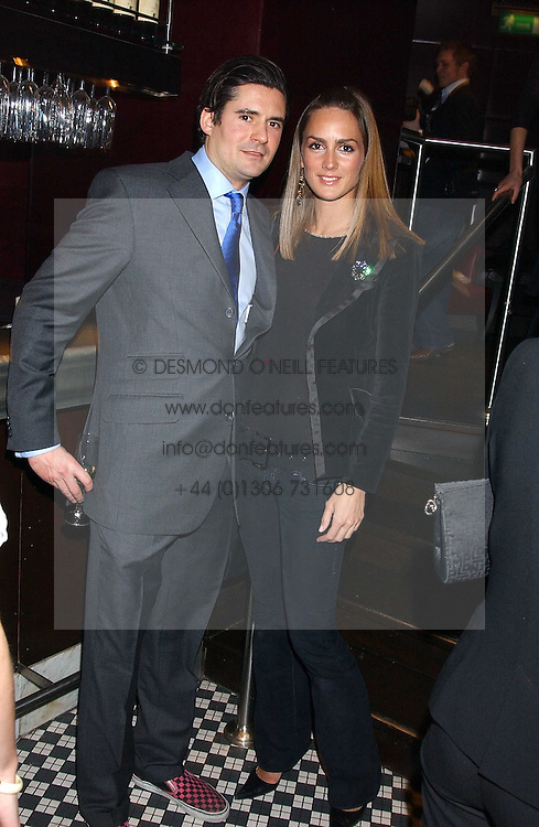 EDWARD TAYLOR and SHELLEY ROSS at a party to launch the Frankie's TLC Card and the TLC Clubcard held at Frankie's Knightsbridge, 3 Yeomans Row, London SW3 on 1st February 2006.<br />