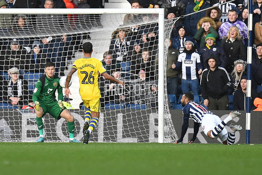 West Bromwich Albion midfielder Matt Phillips (10) scores a goal from open play 4-1 during the EFL Sky Bet Championship match between West Bromwich Albion and Swansea City at The Hawthorns, West Bromwich, England on 8 December 2019.