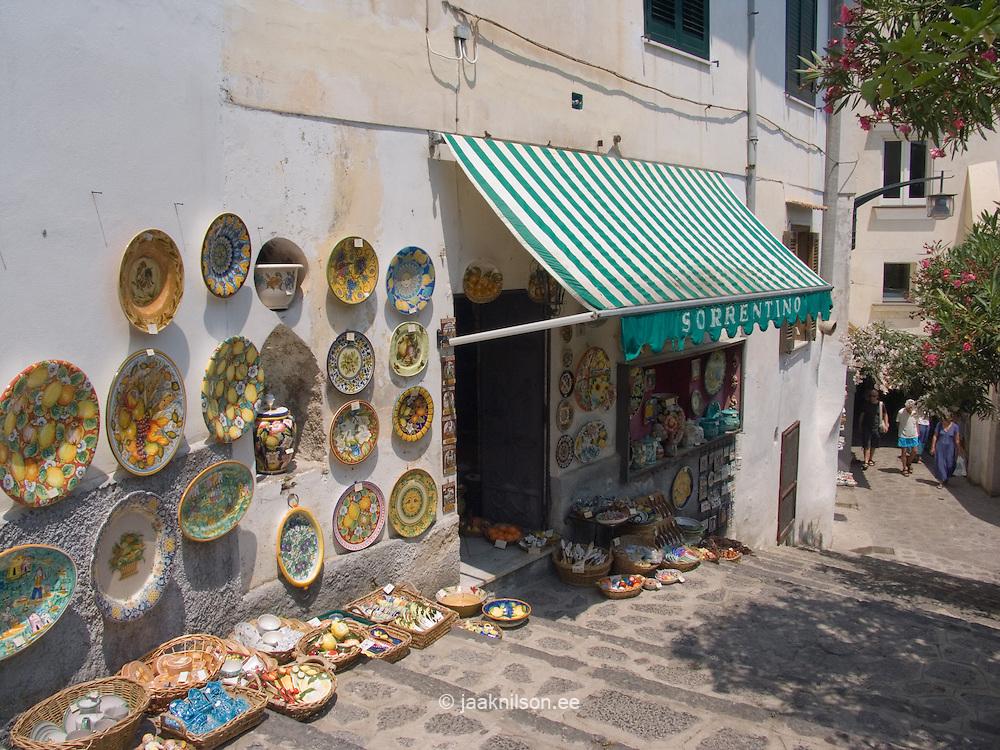 Handmade Ceramics, Street Shop, Ravello, Amalfi Coast, Campania, Italy, Europe, World Heritage Site