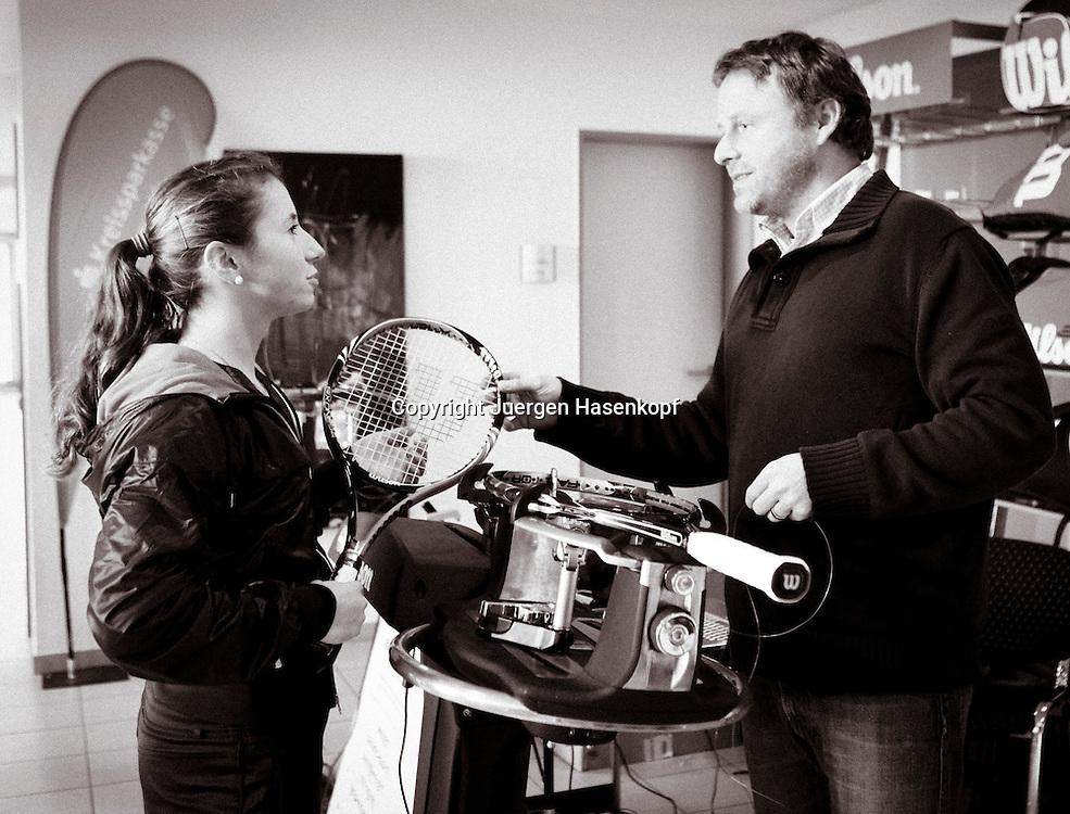 Deutsche Tennis Meisterschaften Dame +Herren .2010,  Hallen Tennis Turnier in Biberach a.d. Riss,.Annika Beck