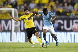 July 20, 2018 - Chicago, IL, U.S. - CHICAGO, IL - JULY 20: Manchester City midfield Tomiwa Dele-Bashiru (72) battles with Borussia Dortmund midfielder Nuri Sahin (8) for the ball during an International Champions Cup match between Manchester City and Borussia Dortmund on July 20, 2018 at Soldier Field in Chicago, Illinois. (Photo by Robin Alam/Icon Sportswire) (Credit Image: © Robin Alam/Icon SMI via ZUMA Press)