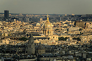 France. Paris. elevated view.les invalides. view from The hotel Concorde Lafayette. Porte Maillot.