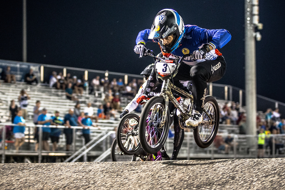 #3 (ANDRE Sylvain) FRA [Wiawis, Lead, Tangent] at Round 7 of the 2019 UCI BMX Supercross World Cup in Rock Hill, USA