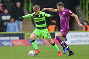 Forest Green Rovers George Williams(11) on the ball during the EFL Sky Bet League 2 match between Forest Green Rovers and Carlisle United at the New Lawn, Forest Green, United Kingdom on 16 March 2019.