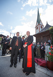 23.08.2015, Alpbach, AUT, Forum Alpbach 2015, Tiroltag, feierliche Eröffnung, im Bild v.l. Tirols Landeshauptmann Günther Platter (ÖVP), Kardinal Christoph Schönborn // f.l.t.r. Günther Platter (Governor of the Province of Tyrol) Cardinal Christoph Schönborn during the opening Ceremony of 2015 European Forum Alpbach in Alpbach, Austria on 2015/08/23. EXPA Pictures © 2015, PhotoCredit: EXPA/ Johann Groder