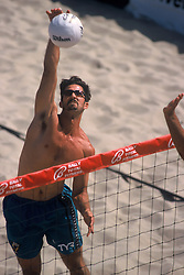 AVP Professional Beach Volleyball - Manhattan Beach, CA - 1998 - Todd Rogers -  Photo by Wally Nell/Volleyball Magazine