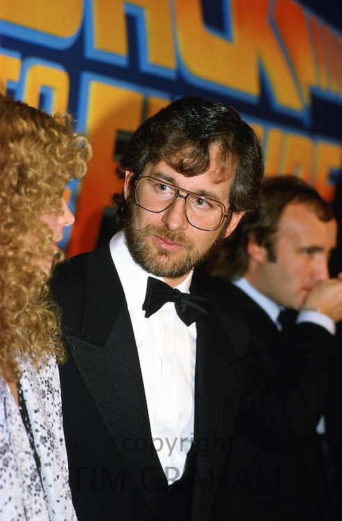 Director Steven Spielberg attending the premiere of 'Back to the Future' at the Empire Cinema, Leicester Square, United Kingdom.