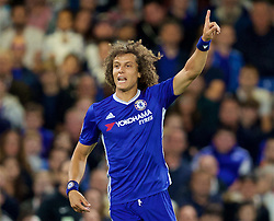 LONDON, ENGLAND - Friday, September 16, 2016: Chelsea's David Luiz in action against Liverpool during the FA Premier League match at Stamford Bridge. (Pic by David Rawcliffe/Propaganda)