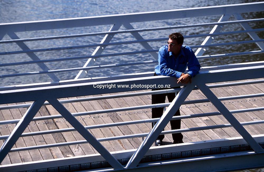 Photoshoot with New Zealand mens cricket player Lou Vincent, Sydney, February, 2002. Photo: Andrew Cornaga/PHOTOSPORT
