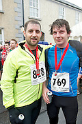 09/11/2013  Ronan Cullinan Westport and Joe Bourke from Clifden finishing the Westport Sea2Summit &ndash; one of the country&rsquo;s leading Adventure Races <br /> The Athletes competed  across an intense route of road running, mountain cycling and the challenging uphill run of Croagh Patrick and finishing with a sea dash and obstacle challenge before finishing in the middle of Westport town.<br /> . Photo:Andrew Downes