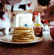 Ardith Weyiouanna's hotcakes in her home in Shishmaref, Alaska in March 2010.