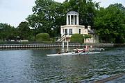 "Henley on Thames, United Kingdom, 23rd June 2018, Saturday,   ""Henley Women's Regatta"",  view, Henley Reach, River Thames, England, © Peter SPURRIER/Alamy Live News"