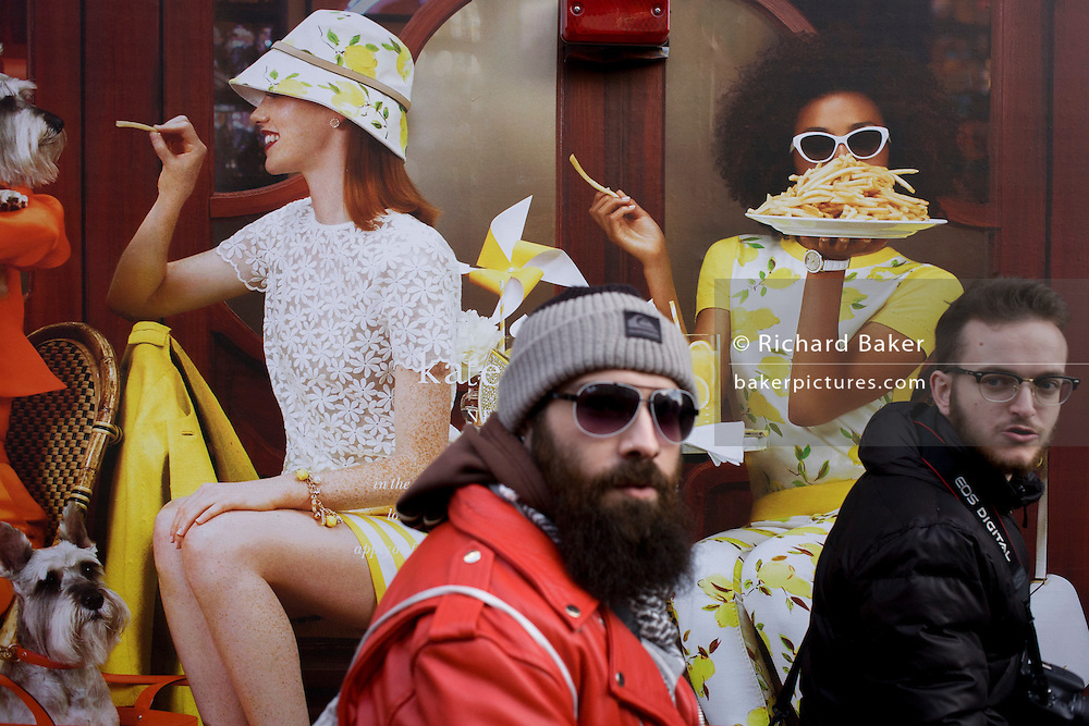 Construction hoarding for forthcoming Kate Spade in Regent Street, central London.