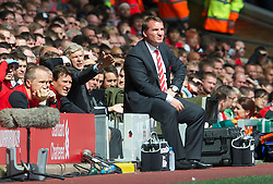02.09.2012, Anfield, Liverpool, ENG, Premier League, FC Liverpool vs FC Arsenal, 2. Runde, im Bild Liverpool's manager Brendan Rodgers during the English Premier League 2nd round match between Liverpool FC and Arsenal FC at Anfield, Liverpool, Great Britain on 2012/09/02. EXPA Pictures © 2012, PhotoCredit: EXPA/ Propagandaphoto/ David Rawcliff..***** ATTENTION - OUT OF ENG, GBR, UK *****