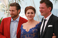 Actor Goran Markovic, actress Nives Ivankovic, director Dalibor Matanic at the Zvizdan (The High Sun) film photo call at the 68th Cannes Film Festival Sunday 17th May 2015, Cannes, France.