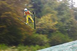 Katja Pozun during national competition in Ski Jumping, 8th of October, 2016, Kranj,  Slovenia. Photo by Grega Valancic / Sportida