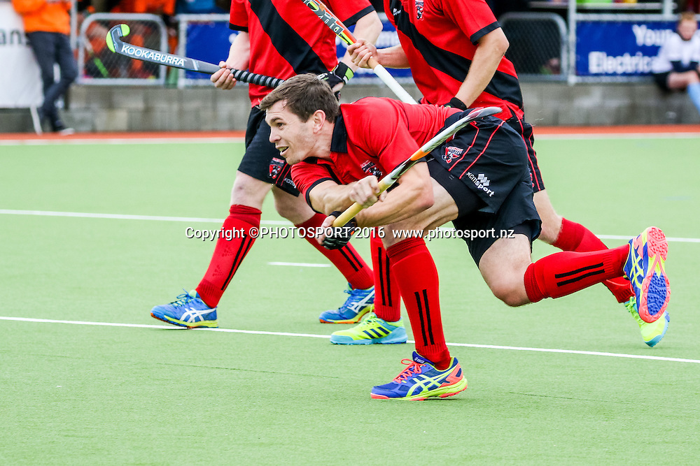 Canterbury's Nick Haig shoots. Midlands v Canterbury Men, Final of the FORD National Hockey League, ITM Hockey Centre, Whangarei, New Zealand. Saturday 17 September, 2016. Copyright photo: Heath Johnson / www.photosport.nz