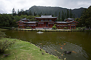 Valley of the Temples Memorial Park. The Byodo-In Temple.