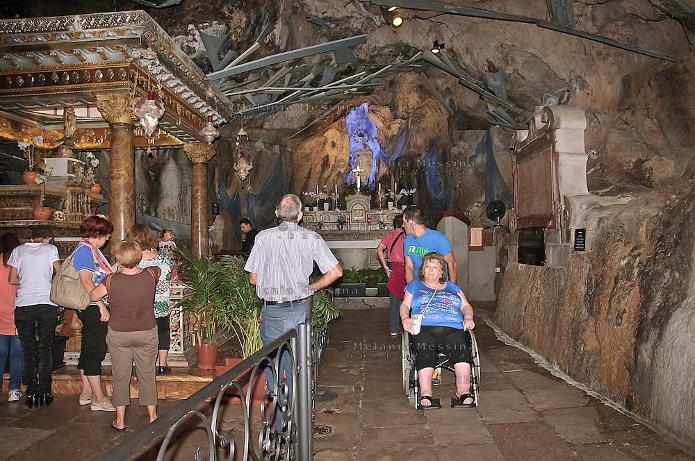 Palermo, sanctuary of Saint Rosalia.<br /> Palermo, santuario di Santa Rosalia.