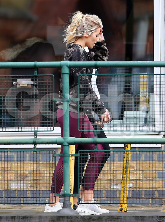 Strictly Come Dancing partners AJ Pritchard and Mollie King get a visit from Mollie's band member and good friend Frankie Bridge. The trio went for a sport of lunch in London. Frankie was also a Strictly Come Dancing contestant in 2014, so should have some good advice for Mollie... 11/10/2017<br /> BYLINE MUST READ : JAMESY/GOTCHA IMAGES<br /> <br /> Copyright by &copy; Gotcha Images Ltd. All rights reserved.<br /> Usage of this image is conditional upon the acceptance <br /> of Gotcha Images Ltd, terms and conditions available at<br /> www.gotchaimages.com