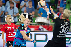 Tamara Mavsar of RK Krim Mercator during handball match between RK Krim Mercator (SLO) and HCM Baia Mare (ROM) in 1st Round of Women's EHF Champions League 2015/16, on October 16, 2015 in Arena Stozice, Ljubljana, Slovenia. Photo by Urban Urbanc / Sportida