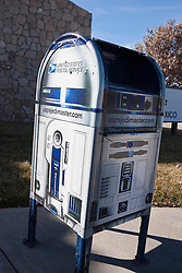 Star Wars R2D2 themed postal box, Roswell, New Mexico, United States of America