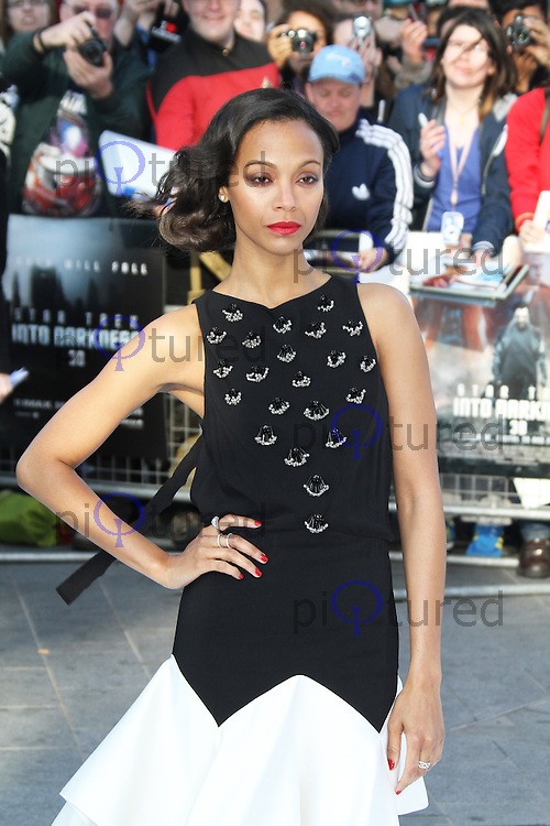 Zoe Saldana, Star Trek Into Darkness London Film Premiere, Empire Cinema Leicester Square, London UK, 02 May 2013, (Photo by Richard Goldschmidt)