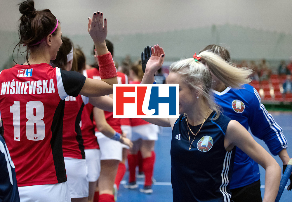 BERLIN - Indoor Hockey World Cup<br /> Belarus - Poland<br /> foto: Line Up<br /> WORLDSPORTPICS COPYRIGHT FRANK UIJLENBROEK
