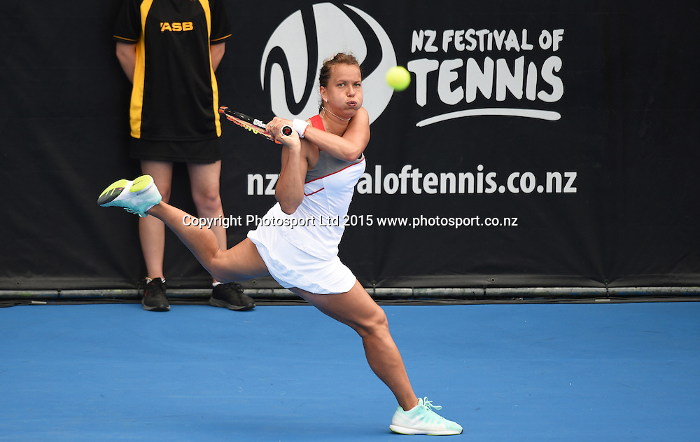Czech player Barbora Zahlavova Strycova on Quarter Finals day at the ASB Classic WTA International. ASB Tennis Centre, Auckland, New Zealand. Thursday 8 January 2015. Copyright photo: Andrew Cornaga/www.photosport.co.nz