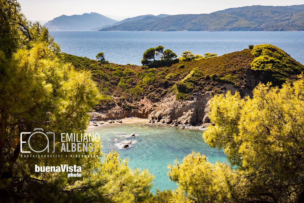 Emiliano Albensi<br /> Settembre 2017<br /> L'isola di Skiathos vista dalla foresta di Dasi Skiathou<br /> <br /> Emiliano Albensi<br /> September 2017<br /> A view of Skiathos Island from the Dasi Skiathou forest