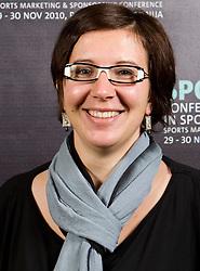 Vesna Stanic during Day two of Sporto  2010 - Sports marketing and sponsorship conference, on November 30, 2010 in Hotel Slovenija, Portoroz/Portorose, Slovenia. (Photo By Vid Ponikvar / Sportida.com)