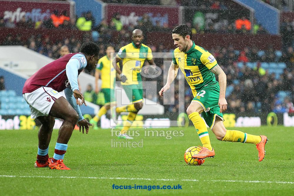 Robbie Brady of Norwich in action during the Barclays Premier League match at Villa Park, Birmingham<br /> Picture by Paul Chesterton/Focus Images Ltd +44 7904 640267<br /> 06/02/2016