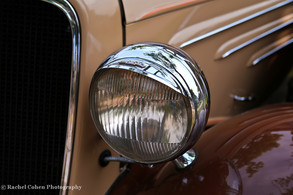 &quot;1934 Chevrolet&quot;<br /> <br /> A beautiful headlight and left front detail from a 1934 Chevrolet.<br /> <br /> Cars and their Details by Rachel Cohen