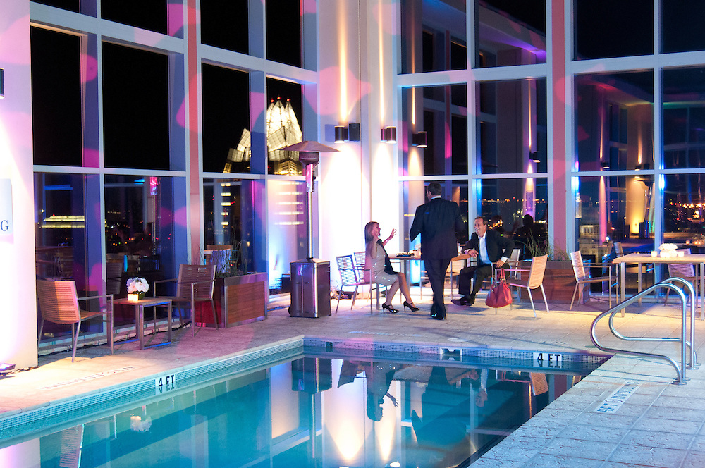 The Four Seasons Residences Austin hosted a party Friday night for current, future and prospective residents. Guests were able to tour the facilities and enjoy ammenities, such as the pool area on the thirty second floor.