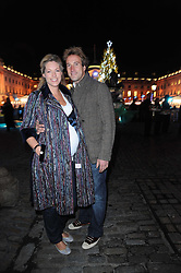 BEN & MARINA FOGLE at a Winter Party given by Tiffany & Co. Europe to launch the 10th season of Somerset House's Ice Skating Rink at Somerset House, The  Strand, London on 16th November 2009.