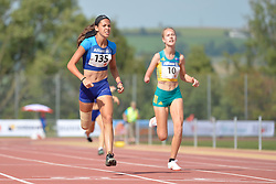 03/08/2017; Hatz, Beatriz, F44, USA, Jordaan, Alissa, F47, AUS at 2017 World Para Athletics Junior Championships, Nottwil, Switzerland
