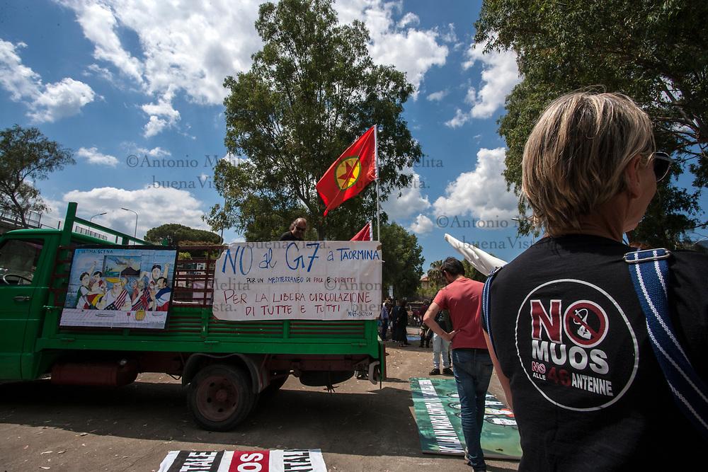Giardini Naxos: presenti alcuni attivisti No MUOS al corteo No G7.