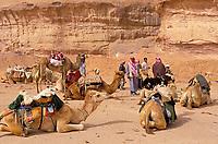 Jordanie. Desert de Wadi Rum