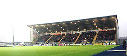 South Stand.<br /> Falkirk 2 v 0 Dundee, Scottish Championship game at The Falkirk Stadium.<br /> &copy; Michael Schofield.