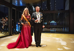 October 22, 2019, JAPAN: 22-10-2019 Gala Royals arrive at the Imperial Palace for the Court Banquets, the 'Kyoen-no-gi' banquet, after the ceremony of the enthronement of Emperor Naruhito in Tokyo, Japan Queen Maxima and King Willem-Alexander. (Credit Image: © face to face via ZUMA Press)
