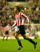 Photo. Glyn Thomas. <br /> Sunderland v Nottingham Forest. <br /> Coca Cola Championship. 14/09/2004.<br /> Sunderland's Julio Arca celebrates scoring his side's first goal.