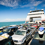 Operating between Cleveland and North Stradbroke Island, the ferry transports both people and vehicles to the popular holiday destination. North Stradbroke Island, just off Queensland's capital city of Brisbane, is the world's second largest sand island and, with its miles of sandy beaches, a popular summer holiday destination.