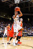 January 2nd, 2014:  Colorado Buffaloes sophomore forward Josh Scott (40) attempts a shot in the first half of action in the NCAA Basketball game between the Oregon State Beavers and the University of Colorado Buffaloes at the Coors Events Center in Boulder, Colorado