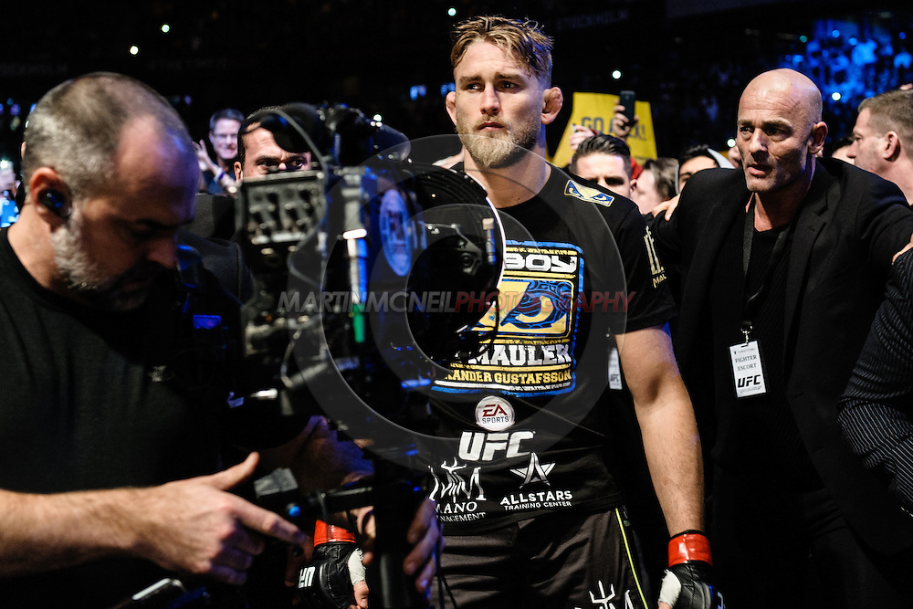 "STOCKHOLM, SWEDEN, JANUARY 24, 2015: Alexander Gustafsson during ""UFC on Fox 14: Gustafsson vs. Johnson"" inside Tele2 Arena in Stockholm, Sweden"
