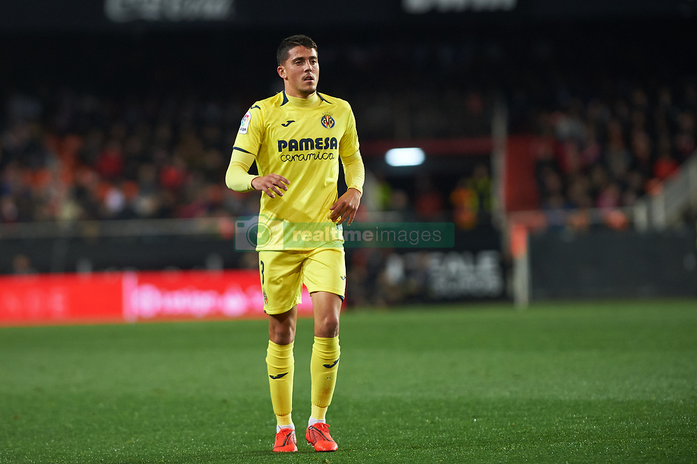 January 26, 2019 - Valencia, Valencia, Spain - Pablo Fornals of Villarreal CF during the La Liga Santander match between Valencia and Villarreal at Mestalla Stadium on Jenuary 26, 2019 in Valencia, Spain. (Credit Image: © Maria Jose Segovia/NurPhoto via ZUMA Press)