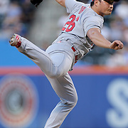 NEW YORK, NEW YORK - July 26: Pitcher Seung Hwan Oh #26 of the St. Louis Cardinals closing in the ninth inning during the St. Louis Cardinals Vs New York Mets regular season MLB game at Citi Field on July 26, 2016 in New York City. (Photo by Tim Clayton/Corbis via Getty Images)