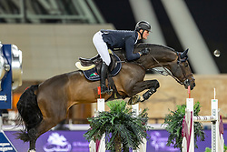 TEBBEL Maurice (GER), Don Diarado<br /> Doha - CHI Al SHAQAB 2020<br /> Int. jumping competition against the clock (1.50/1.55 m) - CSI 5*<br /> Big Tour<br /> 27. Februar 2020<br /> © www.sportfotos-lafrentz.de/Stefan Lafrentz