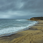 Lorne, along the Great Ocean Road, with stormy weather.