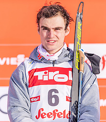 01.02.2020, Seefeld, AUT, FIS Weltcup Nordische Kombination, Siegerehrung, im Bild Vinzenz Geiger (GER) // Vinzenz Geiger of Germany during the winner ceremony for the FIS Nordic Combined World Cup at the Seefeld, Austria on 2020/02/01. EXPA Pictures © 2020, PhotoCredit: EXPA/ Stefan Adelsberger