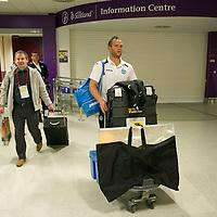 St Johnstone v Eskisehirspor....19.07.12  Uefa Cup Qualifyer<br /> Keeper Alan Mannus in arrivals at Edinburgh Airport after the flight back from Turkey<br /> Picture by Graeme Hart.<br /> Copyright Perthshire Picture Agency<br /> Tel: 01738 623350  Mobile: 07990 594431